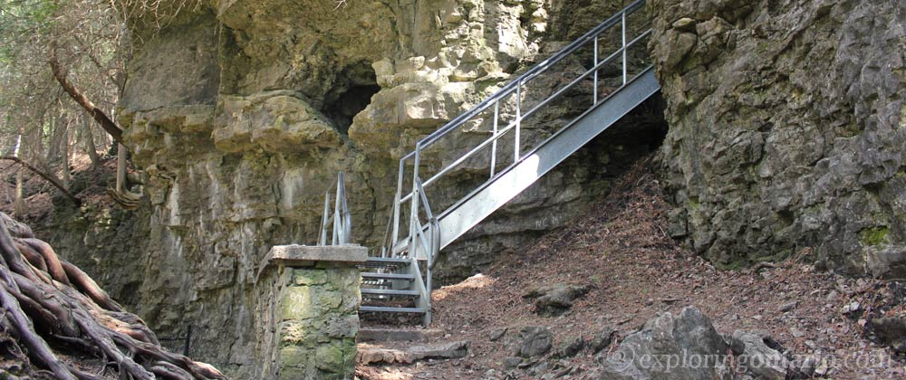 staircase at elora gorge